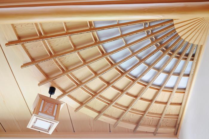 玄関 扇天井