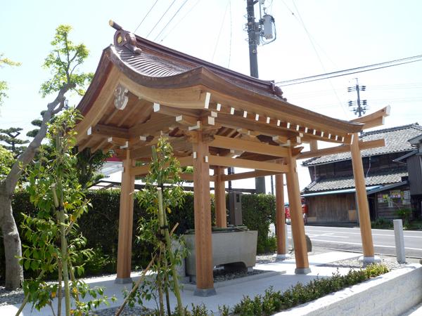 秋葉神社社殿 手水舎 新築
