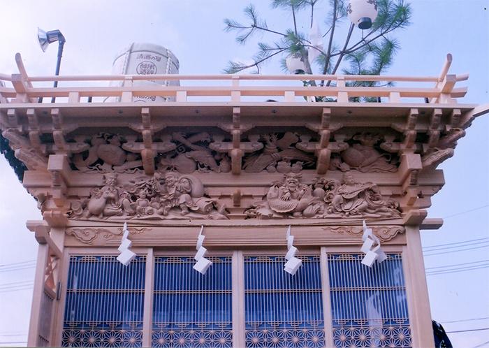 側面欄間の七福神