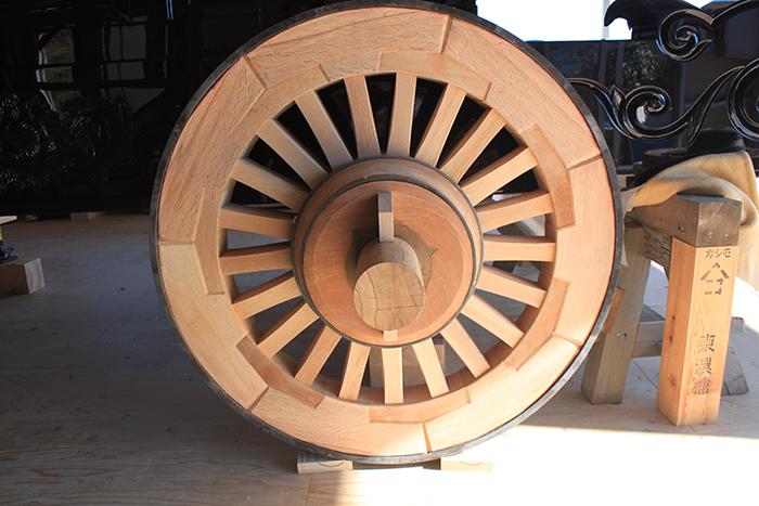 本物の山車用車輪です。