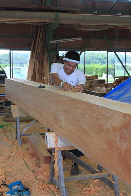 冠木の削り