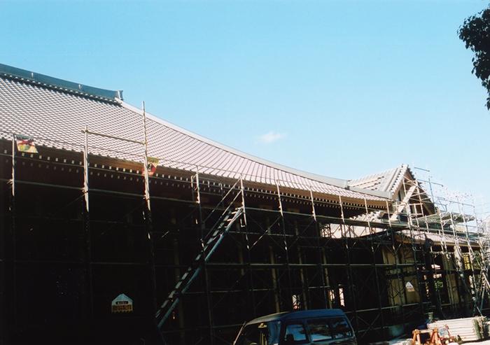 新築本堂と書院大改修